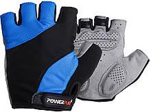 Велорукавички PowerPlay 5041 B XS Чорно-блакитні 5041BXSBlue, КОД: 1323857