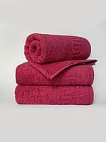 Махровое полотенце для лица, 50*90 см, Туркменистан, 430 гр\м2, малиновое