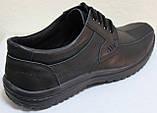 Мужские туфли на широкую ногу черные кожа, мужские туфли кожаные от производителя модель ИВ-2Р, фото 4