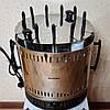 Электрошашлычница Помощница 11 шампуров + колба в подарок 1500Вт с таймером, фото 2