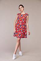 Женское платье ORIGA Фиона 42 Темно-красный, КОД: 1875916