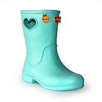 Резиновые сапоги детские для девочки EVA Jose Amorales Джибитсы 32 р Бирюзовый joa1166153, КОД: 2374149