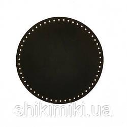 Дно для сумки круглое (20 см), цвет коричневый матовый
