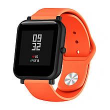 Ремешок BeWatch силиконовый для Xiaomi Amazfit BIP Оранжевый 1010307, КОД: 382840