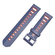 Ремешок BeColor силиконовый для Samsung Galaxy Watch 42 mm Cине-Красный 1011953.1, КОД: 1210022