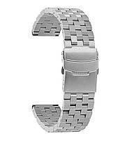 Ремешок BeWatch 22 мм стальной Quadro для Samsung Gear S3 Galaxy Watch 46mm Active 2 44mm Серебро, КОД: