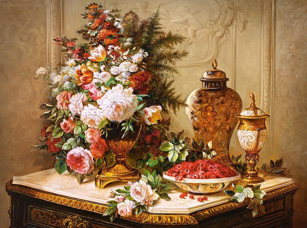 Пазлы на 3000 элементов (92 x 68 см) Цветы, Живопись, (Castorland, Польша)