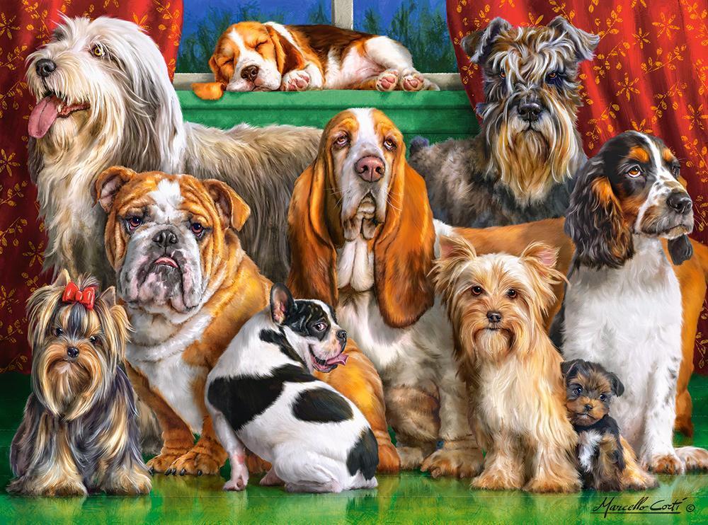 Пазлы на 3000 элементов (92 x 68 см) Собаки (животные), (Castorland, Польша)