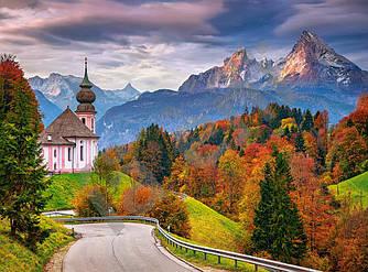 Пазлы на 2000 элементов (92x 68см) Осень в Баварских Альпах, Германия (Castorland, Польша)