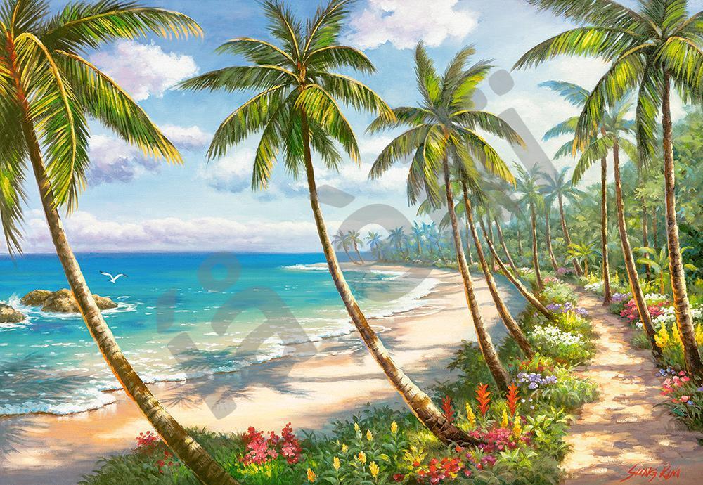 Пазлы на 1000 элементов (68 x 47 см) Райское побережье (Castorland, Польша)