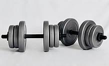 Гантели WCG 2х10 кг Серые 310.001.002, КОД: 1312251
