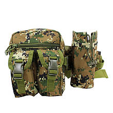 Сумка тактическая на пояс AOKALI Outdoor A33 4L Camouflage Green 5364-16930, КОД: 2404160