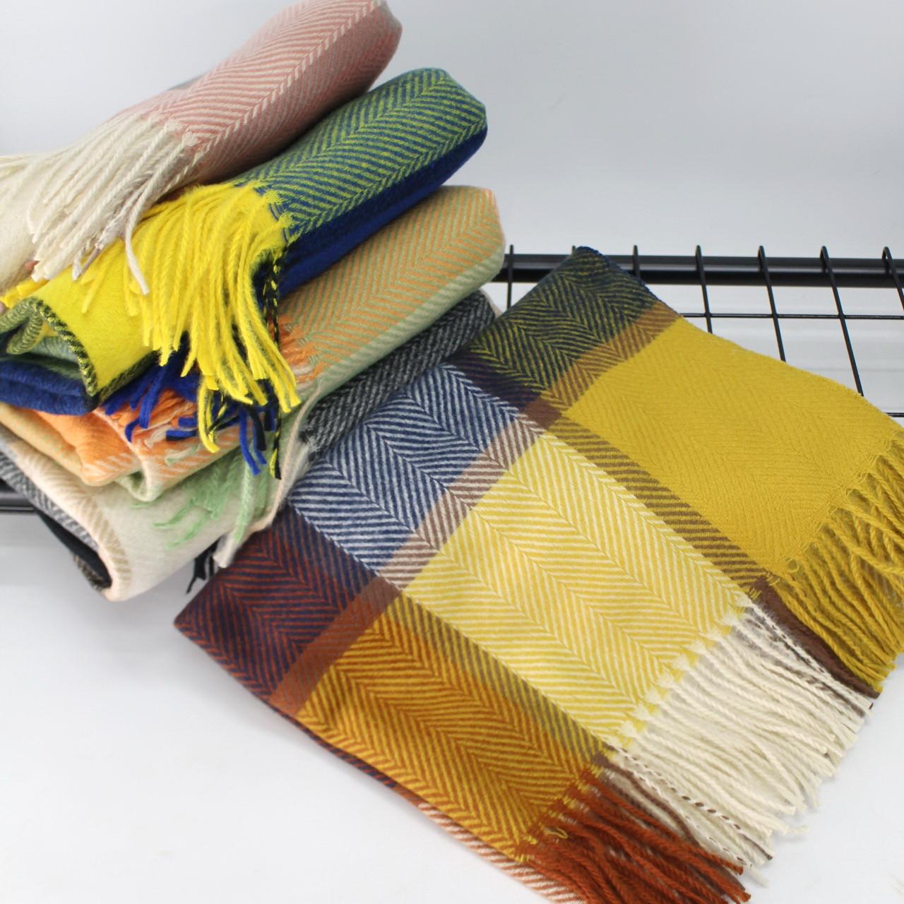 Кашемировый теплый шарф палантин  Cashmere 144012