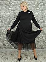 Женское платье NadiN 1617 1 58 Чёрное, КОД: 1714214