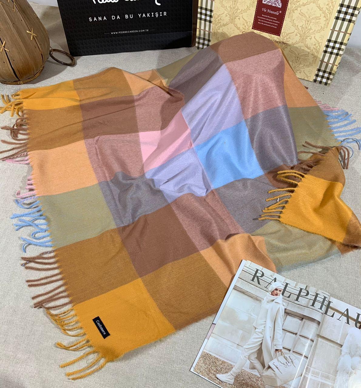 Кашемировый теплый платок Cashmere 213018
