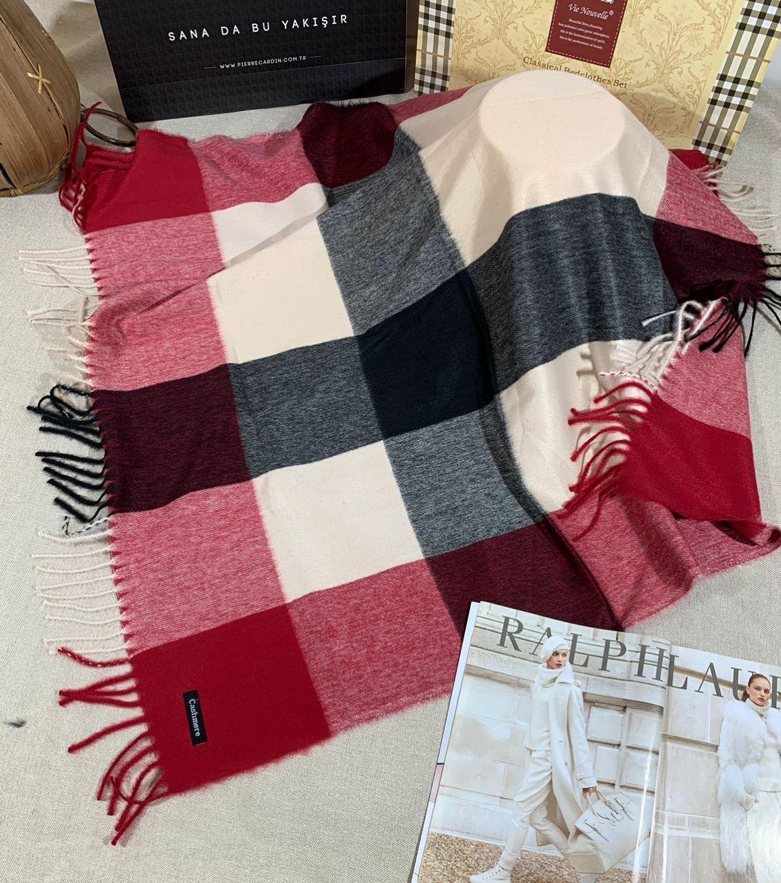 Кашемировый теплый платок Cashmere 213021