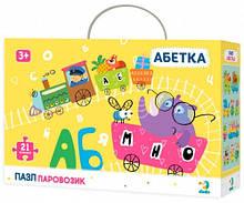 Пазл DoDo Toys Азбука Паровозик 21 эл 300148, КОД: 1616346