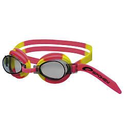 Очки для плавания Spokey JELLYFISH для детей Розово-желтые s0140, КОД: 213004