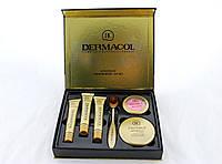 Набор Dermacol 6в1 пудра румяна 3 тональных крема кисть up7660, КОД: 157525