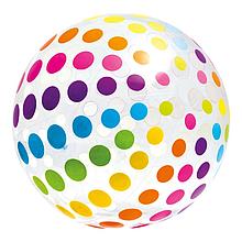 Мяч надувной Intex 59065 107 см Разноцветный, КОД: 1318345