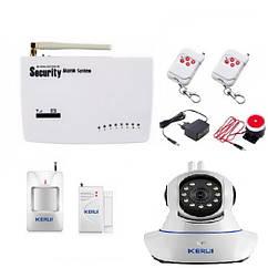 Комплект сигнализации Kerui G10A KIT + IP WI-FI камера YDJFHFLF78FJKFJ, КОД: 1647254