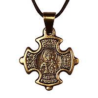 Крест нательный криновидный Надежда Святая мученица Надежда Римская Металл медненный 3х2х0,2 см 1, КОД: