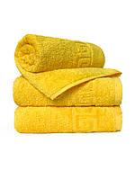 Махровое полотенце для лица, Туркменистан, 430 гр\м2, желтое, 50*90 см