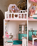 """""""Вилла Милана"""" Кукольный домик NestWood LOL/OMG/Барби, без мебели, МДФ, розовый, фото 3"""