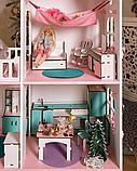 """""""Вилла Милана"""" Кукольный домик NestWood LOL/OMG/Барби, без мебели, МДФ, розовый, фото 4"""