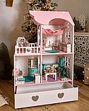 """""""Вилла Милана"""" Кукольный домик NestWood LOL/OMG/Барби, без мебели, МДФ, розовый, фото 6"""