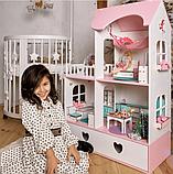 """""""Вилла Милана"""" Кукольный домик NestWood LOL/OMG/Барби, без мебели, МДФ, розовый, фото 7"""