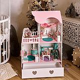 """""""Вилла Милана"""" Кукольный домик NestWood LOL/OMG/Барби, без мебели, МДФ, розовый, фото 8"""