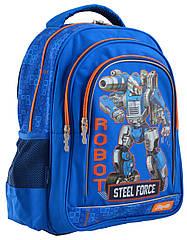 Рюкзак шкільний 1 Вересня S-22 Steel Force Синій 556345, КОД: 1247957