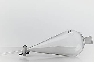 Воронка(лейка) делительная 1000мл. грушевидная, G95 (пластиковый кран)