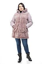 Женская шуба ORIGA Милена, 50 лавандовый, КОД: 2371869