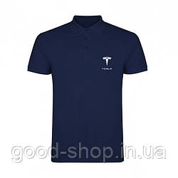 Поло Тесла (Tesla) мужское, тенниска Тесла, мужская футболка Тесла, Турецкий хлопок, копия