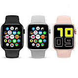 Смарт часы T500 Blue в стиле Apple Watch (Smart Watch) Умные часы Фитнес браслет Фитнес трекер, фото 3