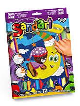 Фреска з кольорового піску. Sand Art (Картина з піску) 4+ (SA-02-01) (Danko Toys)