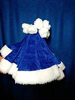Колпак Санта Клауса шапка новогодняя синяя, фото 1