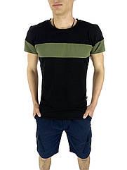 Комплект Футболка и шорты Intruder Color Stripe Miami L Черный с синим Kom 1589368709  3, КОД: 1720907