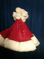Колпак Санта Клауса или Шапка Деда Мороза новогодняя красный, фото 1