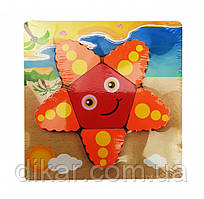 Деревянная игрушка Пазлы MD 0904 (Звезда)