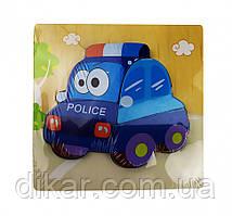 Деревянная игрушка Пазлы MD 0904 (Полиция)