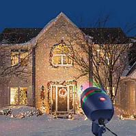 Праздник в Вашем доме за считанные секунды. Лазерный проектор на Новый год Woterproof Garden light. Лучшая