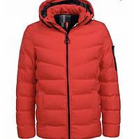 Зимняя подростковая куртка красная 146-152
