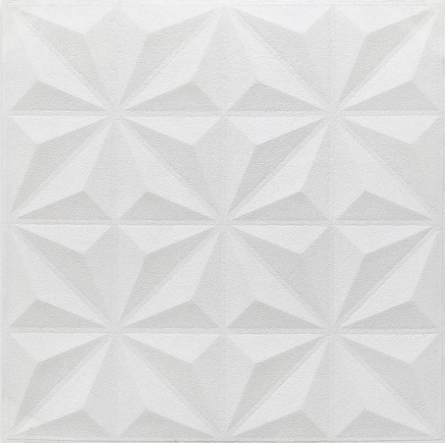 3D панель потолочная самодовлеющая на потолок наклейка ПВХ Самоклейка 3Д Пирамидки