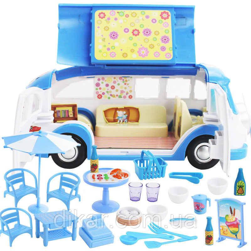 Набор игровой Автобус 2015-3-4-5 (Голубой)