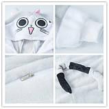 Кигуруми пижама Серый кот, кигуруми Серый кот для взрослых / Kig - 0009, фото 4