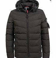 Зимняя подростковая куртка на меху хаки 134-140