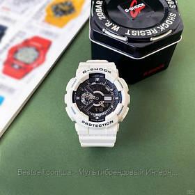 Годинники наручні білі Casio G-Shock GA-110 White-Black New ( відеоогляд ) / касіо джишок білі